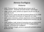 atresia esof gica historia