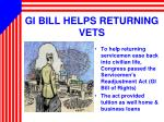 gi bill helps returning vets