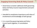 engaging governing body policy council