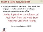 health safety resources nch2