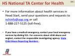 hs national ta center for health