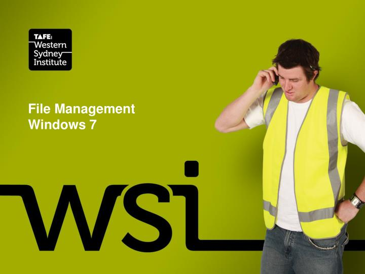 file management windows 7 n.