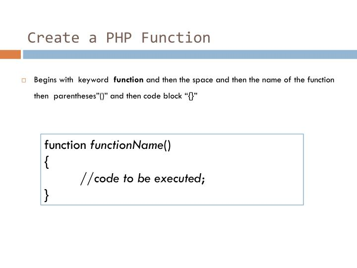 Create a PHP