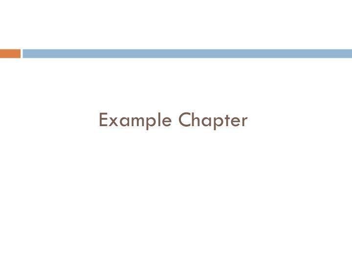 Example Chapter