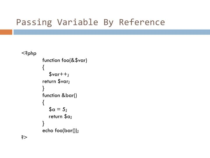 Passing Variable By