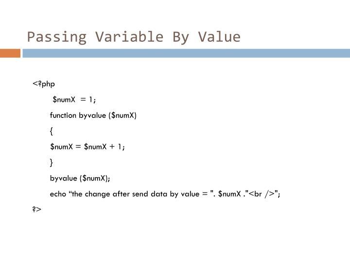 Passing Variable By Value
