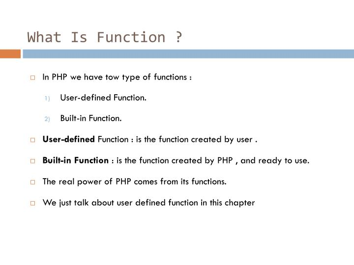 What is function