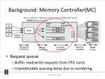 background memory controller mc
