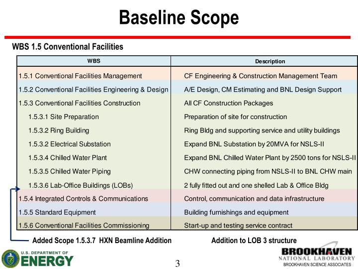 Baseline scope