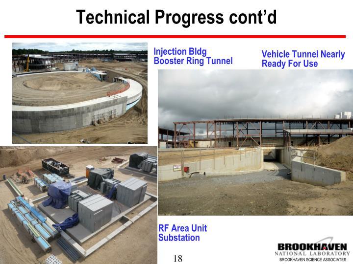 Technical Progress cont'd