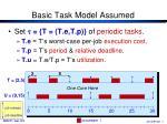 basic task model assumed