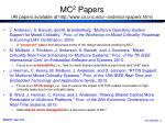 mc 2 papers all papers available at http www cs unc edu anderson papers html