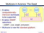 multicore in avionics the good