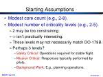 starting assumptions1