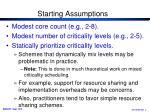 starting assumptions2