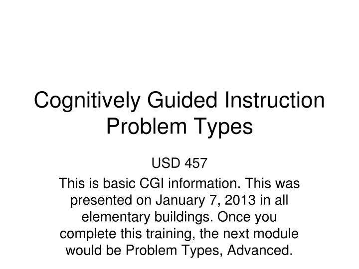 cognitively guided instruction problem types