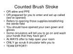 counted brush stroke