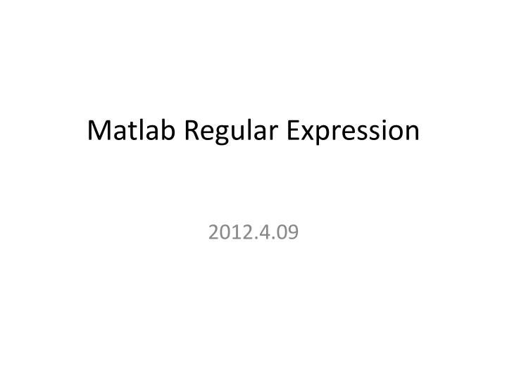 matlab regular expression n.