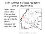 calm summer increased residence time of maumee bay