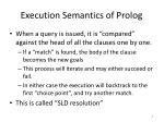 execution semantics of prolog