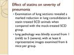effect of statins on severity of pneumonia
