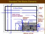 standard title blocks elements