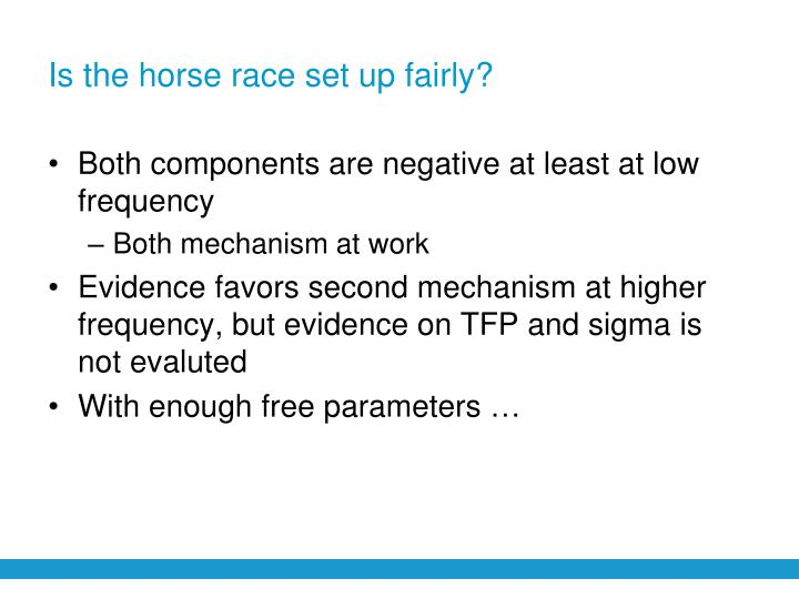 Is the horse race set up fairly?