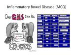 inflammatory bowel disease mcq