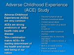adverse childhood experience ace study