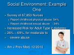 social environment example one