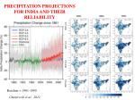 precipitation projections for india and their reliability