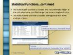 statistical functions continued6