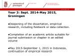 year 3 sept 2014 may 2015 groningen