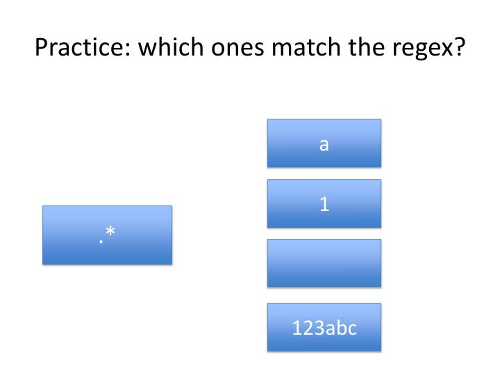 Practice: which ones match the regex?