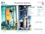 accelerator klystrons