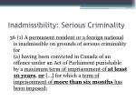 inadmissibility serious criminality