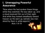 i unwrapping powerful assurance1