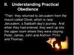 ii understanding practical obedience1