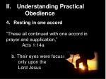 ii understanding practical obedience14