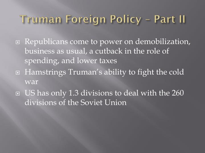 truman foreign policy part ii n.