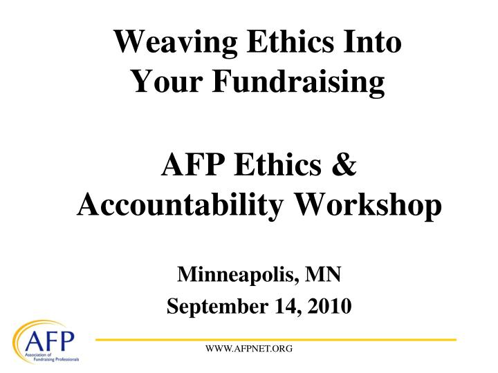 weaving ethics into your fundraising n.