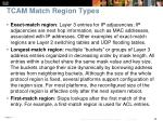 tcam match region types