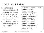 multiple solutions1