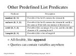 other predefined list predicates