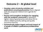 outcome 2 at global level