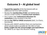 outcome 3 at global level