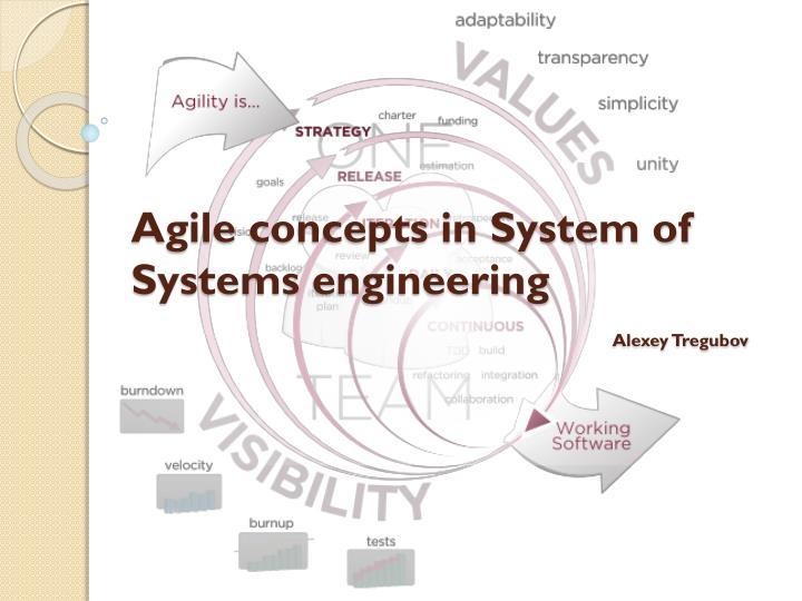 agile concepts in system of systems engineering alexey tregubov n.