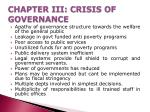 chapter iii crisis of governance