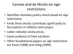 canova and de nicolo on sign restrictions