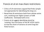 francis et al on max share restrictions